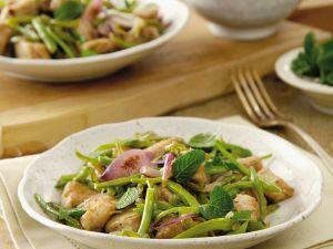 Thunfisch mit Bohnen und Minze Rezept