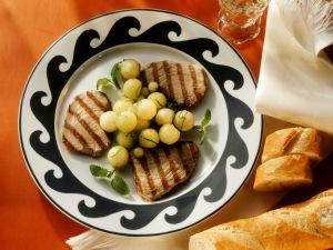 Thunfisch vom Grill mit Melone Rezept