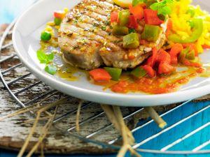 Thunfisch vom Grill mit Paprika Rezept