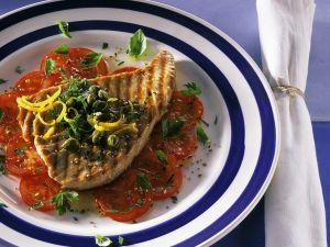 Thunfisch vom Grill mit Tomaten Rezept