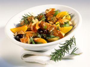 Thunfischpfanne mit Gemüse und Kräutern Rezept