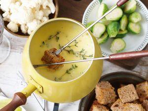 Apfel-Thymian-Käsefondue Rezept
