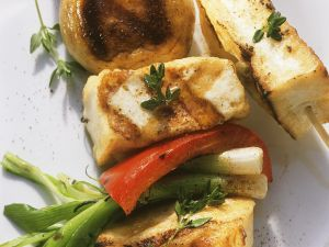 Tofu-Gemüsespieße vom Grill Rezept