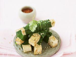 Tofu im Pak Choi Mantel Rezept