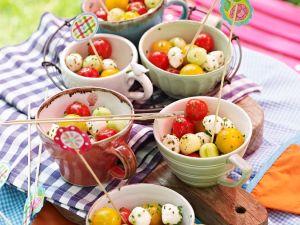 Tomate-Mozzarella-Bällchen Rezept