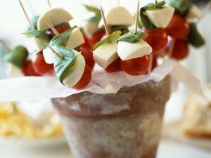 Tomate-Mozzarella-Häppchen Rezept