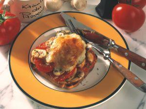 Tomaten-Champignon-Toast Rezept