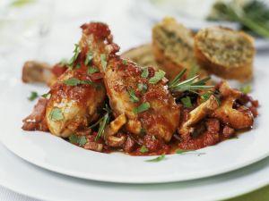 Tomaten-Hähnchen mit Pilzen Rezept