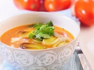 Tomaten-Lauchsuppe Rezept