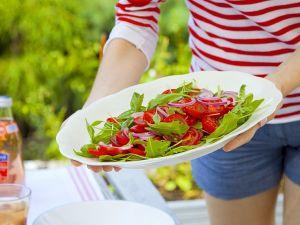 Tomatensalat mit Rucola Rezept