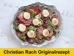 Würziger Tomatensalat mit gratiniertem Ziegenkäse
