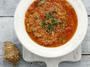 Tomatensuppe mit Couscous Rezept