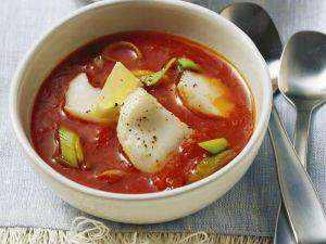 Tomatensuppe mit Fisch Rezept