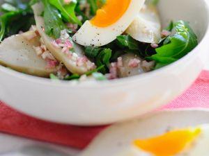 Topinambur-Salat mit Rucola und Ei Rezept