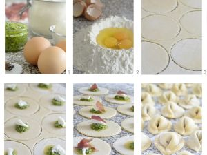spinat ricotta tortellini mit speck rezept eat smarter. Black Bedroom Furniture Sets. Home Design Ideas