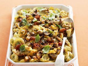 Tortellini-Pilz-Gratin Rezept
