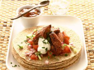 Tortilla mit Hähnchen und Salsa Rezept