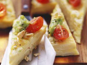 Tortilla mit Spargel und Pinienkernen Rezept
