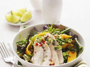 Tropischer Salat mit Hähnchen Rezept