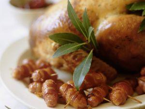 Truthahnbraten mit Speck-Würstchen Rezept