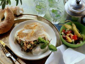 Türkischer Auflauf mit Spinat und Hackfleisch Rezept