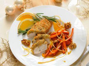 Überbackene Putenbrust mit Orangen-Möhren Rezept