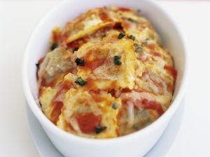 Überbackene Ravioli mit Tomatensauce Rezept