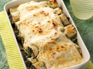 Überbackene Spinat-Cannelloni Rezept
