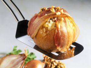 Überbackenes Sauerkraut im Apfel Rezept