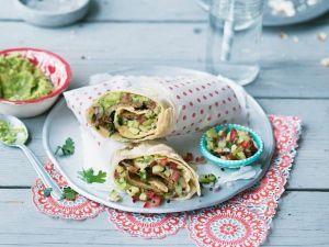 Vegane Burritos mit Avocado Rezept
