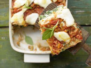 Selbstgemachte Lasagne