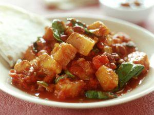 Vegetarisches Curry mit Kürbis Rezept