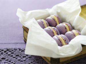 Veilchen-Macarons Rezept