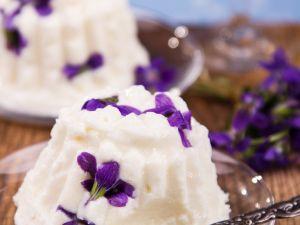 Veilchen-Quarkpudding Rezept