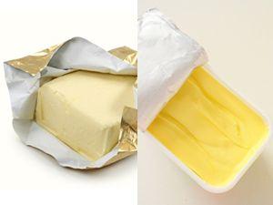 Butter und Margarine im Vergleich
