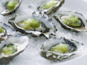 Wasabi-Austern Rezept