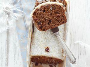 Weihnachtlicher Honigkuchen mit Kokosglasur Rezept