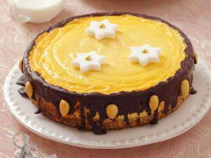Weihnachtlicher Käse-Schoko-Kuchen Rezept