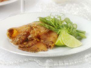 Wildlachs mit Ingwer-Orangen-Soße Rezept