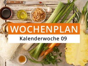 Wochenplan für die Kalenderwoche 09