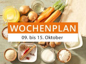 Wochenplan vom 09. bis 15. Oktober 2017