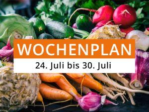 Wochenplan vom 24. Juli bis 30. Juli 2017