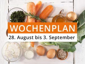 Wochenplan vom 28. August bis 3. September 2017
