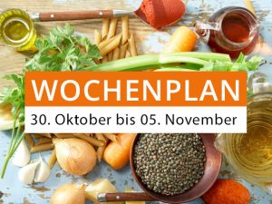 Wochenplan vom 30. Oktober bis 5. November 2017