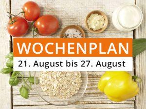 Wochenplan vom 21. August bis 27. August 2017