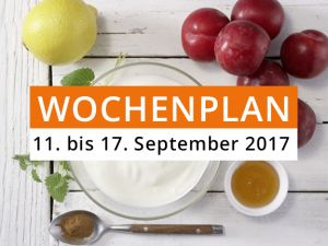 Wochenplan vom 11. bis 17. September 2017