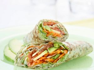 Wraps mit Avocado und Lachs Rezept