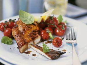 Würzige Hähnchenbrust mit Kirschtomaten Rezept