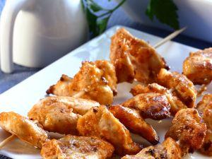 Würzige Hähnchenspieße Rezept