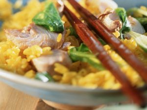 Würziger Reis mit Thunfisch Rezept